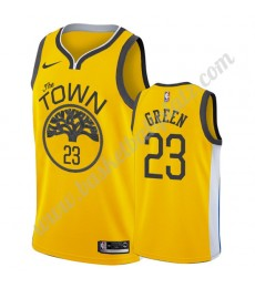 Golden State Warriors Trikot Herren 2019-20 Draymond Green 23# Gold Earned Edition Basketball Trikot..