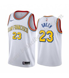 Golden State Warriors Trikot Herren 2019-20 Draymond Green 23# Weiß Classics Edition Basketball Trik..