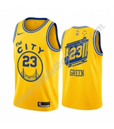Golden State Warriors Trikot Herren 2019-20 Draymond Green 23# Gelb Classics Edition Basketball Trik..