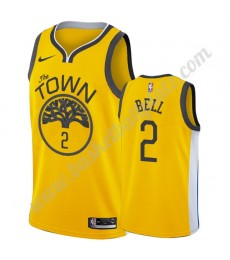Golden State Warriors Trikot Herren 2019-20 Jordan Bell 2# Gold Earned Edition Basketball Trikots NB..