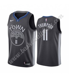 Golden State Warriors Trikot Herren 2019-20 Klay Thompson 11# Schwarz City Edition Basketball Trikot..