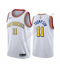 Golden State Warriors Trikot Herren 2019-20 Klay Thompson 11# Weiß Classics Edition Basketball Triko..