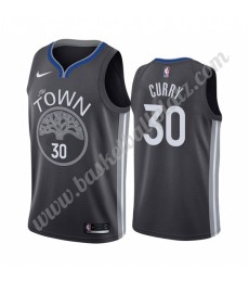 Golden State Warriors Trikot Herren 2019-20 Stephen Curry 30# Schwarz City Edition Basketball Trikot..