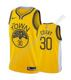 Golden State Warriors Trikot Herren 2019-20 Stephen Curry 30# Gold Earned Edition Basketball Trikots..