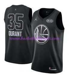 Golden State Warriors Trikot Herren Kevin Durant 35# Schwarz 2018 NBA All Star Game Basketball Trikots Swingman