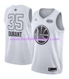 Golden State Warriors Trikot Herren Kevin Durant 35# Weiß 2018 NBA All Star Game Basketball Trikots Swingman