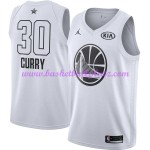 Golden State Warriors Trikot Herren Stephen Curry 30# Weiß 2018 NBA All Star Game Basketball Trikots Swingman