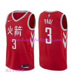 Houston Rockets NBA Trikot Kinder 2018-19 Chris Paul 3# City Edition Basketball Trikots Swingman..