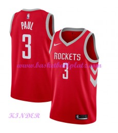 Houston Rockets NBA Trikot Kinder 2018-19 Chris Paul 3# Icon Edition Basketball Trikots Swingman..