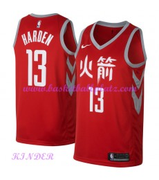 Houston Rockets NBA Trikot Kinder 2018-19 James Harden 13# City Edition Basketball Trikots Swingman