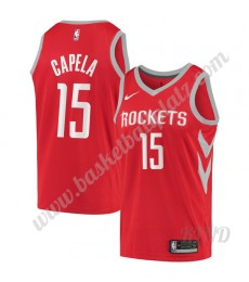 Houston Rockets Trikot Kinder 2019-20 Clint Capela 15# Rot Icon Edition NBA Trikots Swingman..