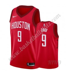 Houston Rockets Trikot Kinder 2019-20 Zhou Qi 9# Rot Earned Edition NBA Trikots Swingman..