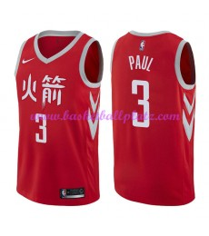 Houston Rockets Trikot Herren 2018-19 Chris Paul 3# City Edition Basketball Trikots NBA Swingman..