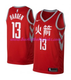 Houston Rockets Trikot Herren 2018-19 James Harden 13# City Edition Basketball Trikots NBA Swingman..