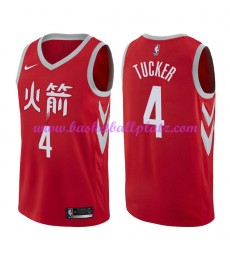 Houston Rockets Trikot Herren 2018-19 P.J. Tucker 2# City Edition Basketball Trikots NBA Swingman..