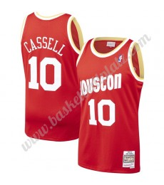 Houston Rockets Trikot Herren 1993-94 Sam Cassell 10# Rot Hardwood Classics Basketball Trikots NBA S..