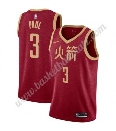 Houston Rockets Trikot Herren 2019-20 Chris Paul 3# Rot City Edition Basketball Trikots NBA Swingman..