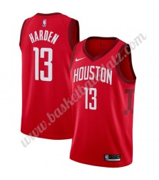 Houston Rockets Trikot Herren 2019-20 James Harden 13# Rot Earned Edition Basketball Trikots NBA Swi..
