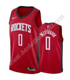 Houston Rockets Trikot Herren 2019-20 Russell Westbrook 0# Rot Icon Edition Basketball Trikots NBA S..