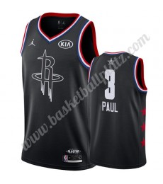 Houston Rockets Trikot Herren 2019 Chris Paul 3# Schwarz All Star Game Basketball Trikots Swingman..