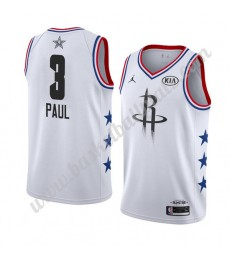 Houston Rockets Trikot Herren 2019 Chris Paul 3# Weiß All Star Game Basketball Trikots Swingman..
