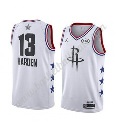Houston Rockets Trikot Herren 2019 James Harden 13# Weiß All Star Game Basketball Trikots Swingman..