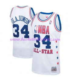 Houston Rockets Trikot Herren Hakeem Olajuwon 34# Weiß 1989 NBA All Star Hardwood Classics Basketbal..