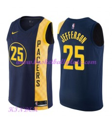 Indiana Pacers NBA Trikot Kinder 2018-19 Al Jefferson 25# City Edition Basketball Trikots Swingman..