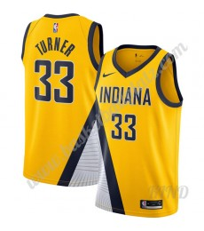 Indiana Pacers Trikot Kinder 2019-20 Myles Turner 33# Gold Finished Statement Edition NBA Trikots Sw..
