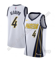 Indiana Pacers Trikot Kinder 2019-20 Victor Oladipo 4# Weiß Earned Edition NBA Trikots Swingman..