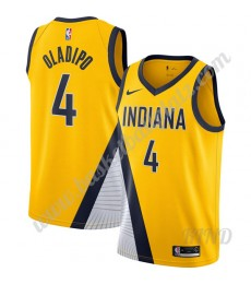 Indiana Pacers Trikot Kinder 2019-20 Victor Oladipo 4# Gold Finished Statement Edition NBA Trikots S..