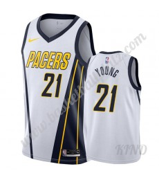 Indiana Pacers Trikot Kinder 2019-20 Thaddeus Young 21# Weiß Earned Edition NBA Trikots Swingman..