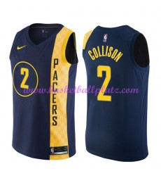 Indiana Pacers Trikot Herren 2018-19 Darren Collison 2# City Edition Basketball Trikots NBA Swingman..