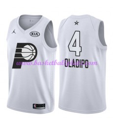 Indiana Pacers Trikot Herren Victor Oladipo 4# Weiß 2018 NBA All Star Game Basketball Trikots Swingm..