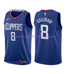 Los Angeles Clippers NBA Trikot Kinder 2018-19 Danilo Gallinari 8# Icon Edition Basketball Trikots S..