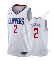 Los Angeles Clippers Trikot Kinder 2019-20 Kawhi Leonard 2# Weiß Association Edition NBA Trikots Swi..