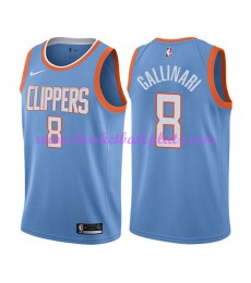 Los Angeles Clippers Trikot Herren 2018-19 Danilo Gallinari 8# City Edition Basketball Trikots NBA S..
