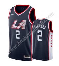 Los Angeles Clippers Trikot Herren 2019-20 Kawhi Leonard 2# Marine City Edition Basketball Trikots N..