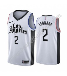 Los Angeles Clippers Trikot Herren 2019-20 Kawhi Leonard 2# Weiß City Edition Basketball Trikots NBA..