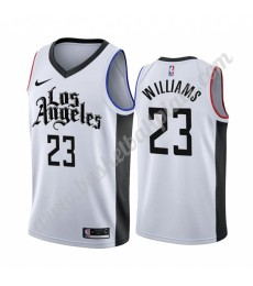 Los Angeles Clippers Trikot Herren 2019-20 Lou Williams 23# Weiß City Edition Basketball Trikots NBA..