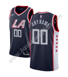 Los Angeles Clippers Trikot Herren 2019-20 Marine City Edition Basketball Trikots NBA Swingman..