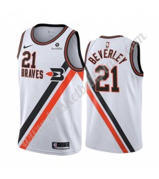 Los Angeles Clippers Trikot Herren 2019-20 Patrick Beverley 21# Weiß Classics Edition Basketball Tri..