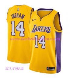 Los Angeles Lakers NBA Trikot Kinder 2018-19 Brandon Ingram 14# Icon Edition Basketball Trikots Swin..