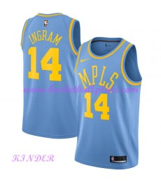 Los Angeles Lakers NBA Trikot Kinder 2018-19 Brandon Ingram 14# Light Blau Hardwood Classics Basketb..