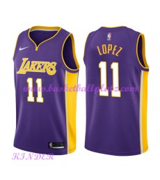 Los Angeles Lakers NBA Trikot Kinder 2018-19 Brook Lopez 11# Statement Edition Basketball Trikots Sw..