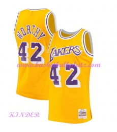 Los Angeles Lakers NBA Trikot Kinder 1984-85 James Worthy 42# Gold Hardwood Classics Basketball Trik..