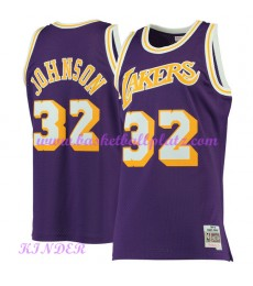 Los Angeles Lakers NBA Trikot Kinder 1984-85 Magic Johnson 32# Lila Hardwood Classics Basketball Tri..