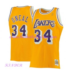 Los Angeles Lakers NBA Trikot Kinder 1996-97 Shaquille O'Neal 34# Gold Hardwood Classics Basketball ..