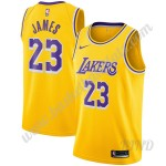 Los Angeles Lakers Trikot Kinder 2019-20 LeBron James 23# Gold Icon Edition NBA Trikots Swingman