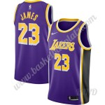 Los Angeles Lakers Trikot Kinder 2019-20 LeBron James 23# Lila Replica Statement Edition NBA Trikots Swingman